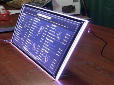 Tranh điện mica siêu mỏng để bàn